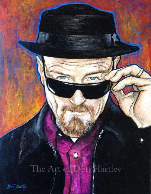 Walter White by Dori Hartley - come see more at my art gallery: http://wildblueheart.wordpress.com/2014/02/01/walter-white-heisenberg/