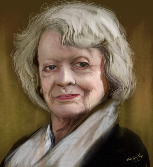 Maggie Smith by Dori Hartley